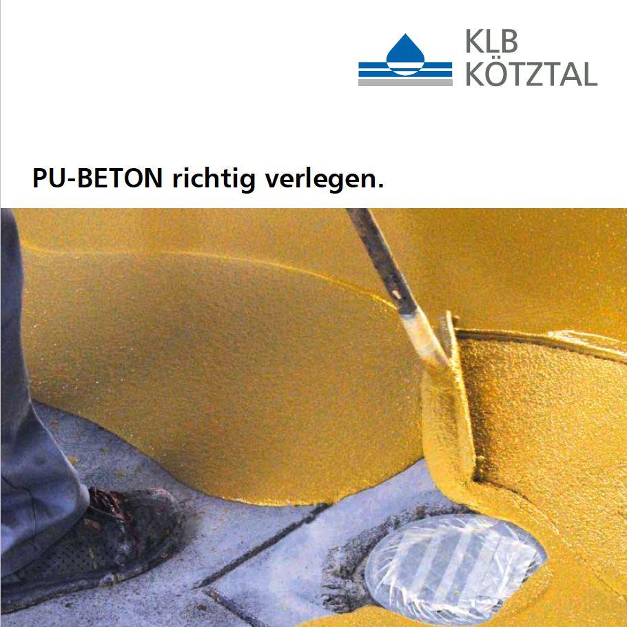 KLB-Informationsblatt für die richtige Verlegung von PU-Beton