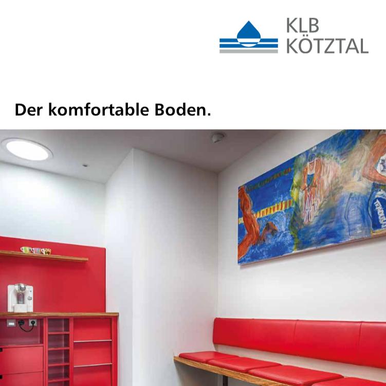 KLB-Produkt-Informationsbroschüre Komfortboden