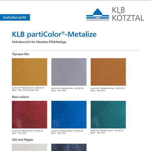 Farbkarte partiColor Metalize